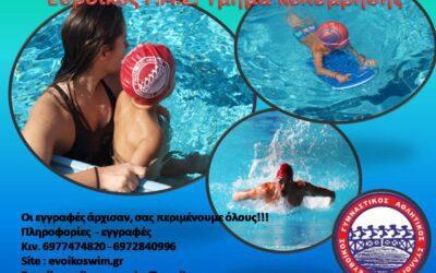 Πρόγραμμα μεγάλης πισίνας σεζόν 2021-22